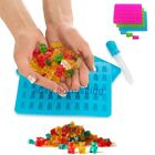 1x 50 Cavity Silicone Gummy Bear Chocolate Mold Candy Maker Ice Tray Jelly Mould