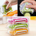 New 3 In 1 Food Vegetable Fruit Rotary Peeler Slicer Cutter Dicer Kitchen Tools
