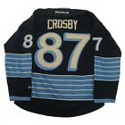 New NHL Reebok Premier Sidney Crosby Jersey #87 Large 2X Navy Blue 'Stained'
