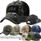 USA FLAG Military CAP Hat Detachable Patch Army Navy Air Force Fashion Mesh