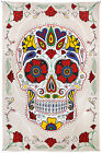 """3D Tapestry """"Sugar Skull"""" White 60 x 90  - FREE PRIORITY MAIL"""