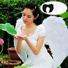 Fashion Feather Wings Angel Fairy Fancy Dress Costume Halloween Party Favor abus