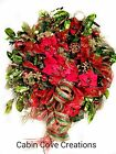 Holiday BLING Christmas Wreath red lime green gold CUSTOM designs available