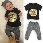 Baby Toddler Infant Kids Mamas Boys T-shirt Top Pants Trousers Outfits Clothes