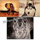 3d Animal Faux Fur Throws. 3d double & king size, Elephant, Wolf, Tiger Blankets