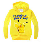 Kids Girl Boy Pokemon Pikachu Jumper Tops Hoodie Sweatshirt T-shirt Coat Costume