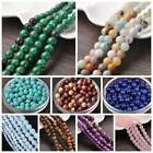 Wholesale Natural Agate Stone Gemstone Round Spacer Loose Beads 4,6,8,10,12mm