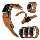 Genuine Leather Band Strap Bracelet Watchband For Apple Watch iWatch 38/42MM SW