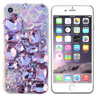 RHINESTONE BLING DIAMOND LUXURY DECO 3D FOR IPHONE 5/6/7 PLUS CASE ROSE #LCR001