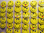 Happy Smiley Face #B 45MM LOTS PIN BACK BADGES BUTTONS NEW FOR BAG CLOTH PARTY