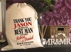 PERSONALISED BESTMAN Same Sex Wedding Gift Bag 5 Sizes Available Jason Design
