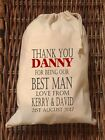 PERSONALISED BESTMAN Wedding Gift Bag 5 Sizes Available Danny #1 Design