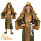Child Gold Wise Man Costume Boys Christmas Nativity Fancy Dress Outfit New