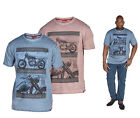 Mens D555 Kingsize Oil Wash Motorcyle T Shirt Top 3XL 4XL 5XL 6XL
