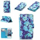 PU Leather Pattern Smart Wallet & Hand Rope Cases Cover for Apple iPod Touch 5