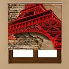 Eiffel Tower Window Blackout Transparent Fabric Roller Blind Shades Various Size