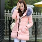 Slim Warm Winter Women Cotton Parka Hooded Coat Short Fur Collar Quilted Jacket