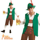 Adult Traditional Bavarian Man Costume Mens Oktoberfest Beer Fancy Dress Outfit