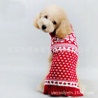 Christmas Winter Pet Puppy Small Dog Cat Sweater Clothes Coat Apparel