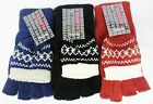 LADIES FAIRISLE 2 IN 1 GLOVES GL135