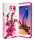 For Samsung Galaxy S6 Edge Plus Slim Hybrid Hard Case Skin Phone Cover Flower