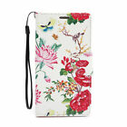 For Samsung Galaxy S6 Edge + Plus PU Leather Flip Card Wallet Case Cover Peony