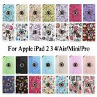 360 Rotating PU Leather Smart Case Cover For Apple iPad 2 3 4/Mini/Air 2/Pro 9.7