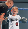 "Dirty Fingers Child's T-Shirt ""Born to Box"" Boxing Glove Boy Girl Top Sport"