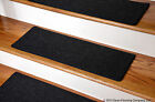 Dean Custom Pet Friendly Non-Slip DIY Carpet Stair Treads - Color: Black