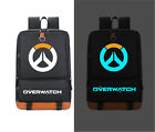 Overwatch Luminous Schoolbag Backpack Canvas Game Anime Shoulder Students Bag