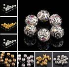 4mm 5mm 6mm 8mm 10mm 12mm Round Charms Metal Copper Loose Spacer Beads Lot