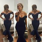 Mermaid Off The Shoulder Bridesmaid Evening Gown Maid Of The Honor Dresses WD188