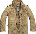 Brandit M65 Military Vintage Parka Jacket Field Army Combat Zip Warm Winter