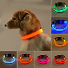 Adjustable LED Light Flashing Glow Luminous Pet Safety Collar Night Light Nylon