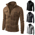 Hot Mens Stylish Casual Slim Fit Jacket Coat Hoodie Outwear Tops Size XS~L