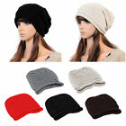 Unisex Women Men Winter Warm Ski Knitted Crochet Baggy Beanie Hat Cap New CC