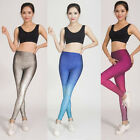 Sexy Womens Yoga Pants Gradient Legging Fitness Girl Exercise Gym Sport Trousers