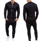 Mens Casual Tracksuit Jogging Jacket Top & Pants Training Sports Gym Set Wear