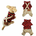 Small Dog Pet Clothes Puppy Grid Shirt Fashion Apparel Pants Soft Costume New