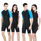 New Sbart1006A men's short sleeve diving swimming Wetsuits onepiece front zipper