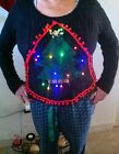 LIGHT UP Ugly Xmas Sweater Costume USA Ship Lot gift Costume