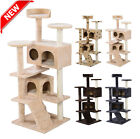 Cat Tree Tower Condo Furniture Scratch Post Kitty Pet House Play Beige Paws TO