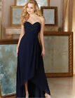 High Low Chiffon Bridesmaid Dresses Maid Of The Honor Evening Party Gowns WD063