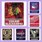 NHL Licensed Marque Soft Fleece Plush Afghan Throw Blanket - Choose Your Team