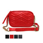 CLASSIC DOUBLE-U QUILTED TOPZIP CHAIN SHOULDER CROSS BAG REAL SHEEPSKIN LEATHER