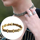 New Punk Metal Choker Necklace Women Vintage Gold Plated Jewelry Neck Necklace