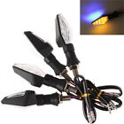 2x Universal Motorcycle Black 12 LED Blinker Turn Signal Indicators Amber Light