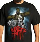 Dyse One Crucifix Mens Black T-Shirt Urban Streetwear Tattoo Graffiti Art
