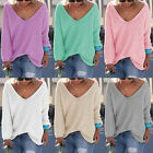 Womens Long Sleeve Knitted Pullover Loose Sweater Jumper Tops Knitwear Modernest