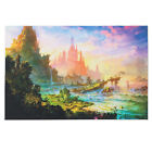 New Psychedelic Trippy Art Silk Cloth Castle Poster Home Wall Decor 36x24 inch